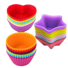 Silicone Flower Cupcake Mould Custom Cake Pan Round Cake Grinding Pan Non-stick Cup Cake Mould