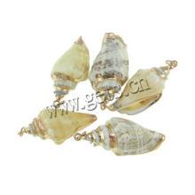 Gets.com trompette coquille moldavite pendentif facetté