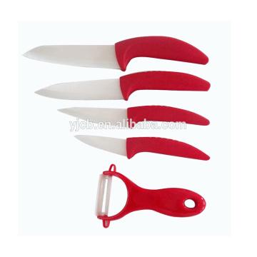 5 Stück Keramikmesserset Kochutensilien Küchenmesser