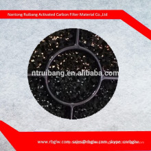PU foam covered with granular activated carbon/activated carbon PU foam sponge Mattress Filter