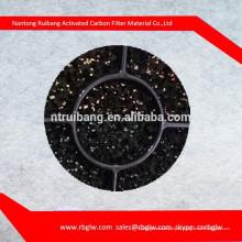 Espuma do plutônio coberto com carvão ativado granulado / esponja da espuma do plutônio do carvão ativado Filtro do colchão