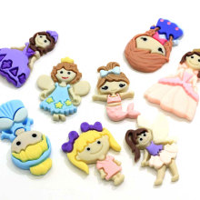 100pcs Cute Miniature Girls Princess Resin Flatback Cabochon For DIY Craft Embellishments