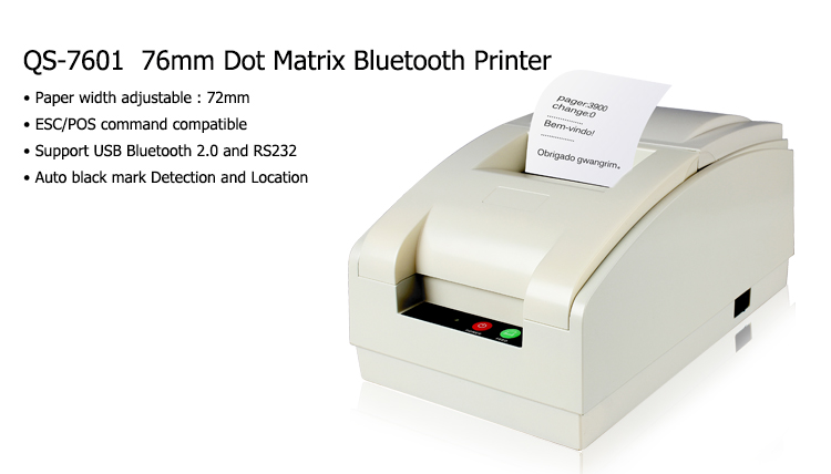 76mm dot matrix bluetooth printer
