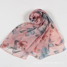 Femmes Papillon Imprimé Doux Longue Cou Wrap Châle Stole Printemps Automne Foulard (SW105)