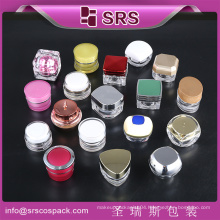 plastic Jars for cosmetics travel balms oils powders creams ointments grease small safe pots lids lot