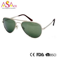Модные серебряные мужские солнцезащитные очки для мужчин и женщин (16102)