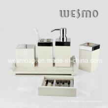 Branco lavado acessórios de banho de bambu cor (wbb0304b)