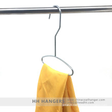 Attache de foulard de fil de métal Chrome poli suspendu affichage