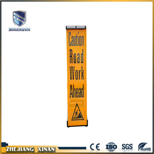 Customized color hand movement traffic warning board
