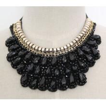 Handmade talão de cristal moda traje liga pingente de colar de jóias (jE0001)
