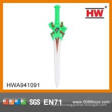 Engraçado 60cm plástico brinquedo espada piscando para crianças levou espada
