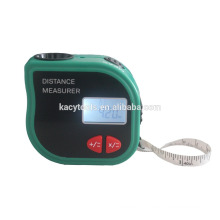 New mini tapeline-shaped ultrasonic distance meter with tape measure 18M with high Accuracy