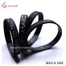 Personnalisé en creux douleur couleur Logo Silicone Silicone bracelet
