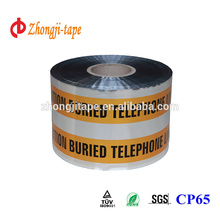 orange and silvery underground detectable warning tape