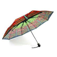 Butterfly Print 3 Fold Open&Close Umbrellas (YS-3FD22083563R)