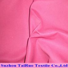 Tecido de pele de pêssego de poliéster escovado e tecido de poliéster de estoque