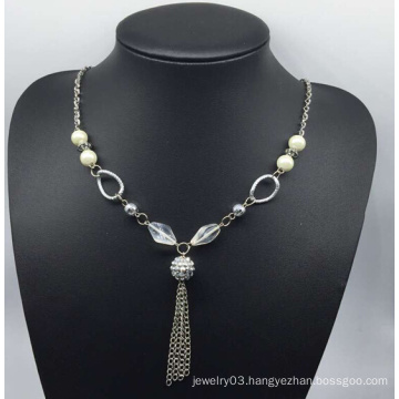 Colorful Pearl Sweater Necklace (XJW13757)