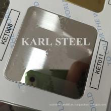 Hoja de Ket011 grabada en color acero inoxidable para materiales de decoración