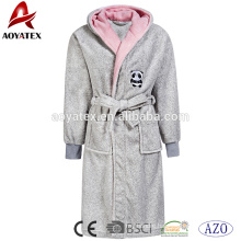 Wholesale low price coral fleece printed animal hood children bathrobe