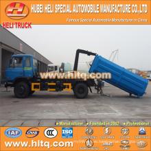 DONGFENG camión de basura de brazo push-pull 4X2 10 cbm 190hp mejor precio de producción profesional de venta caliente