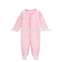 2017 новорожденных девочек комбинезон ползунки розового цвета с набивным узором детская одежда комбинезон 100% хлопок оптом