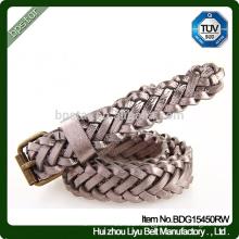 Female Braided Waistband, Fashion Elegant Lady Genuine Leather Braided Belt For Dress