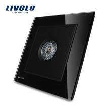 LIVOLO Knight Black Crystal Glass Panel Звуковое и световое управление / Датчик движения Датчик времени задержки VL-W291SG-11