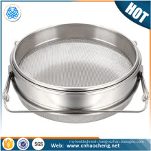 Honey filter strainer double sieve stainless steel rim sieve beekeeping equipment