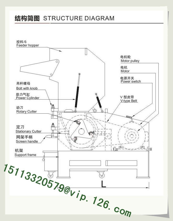 flat type granulator structure a