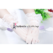 Neue weiße Hochzeit Braut Handschuhe kurze weiße Spitze Braut Handschuhe
