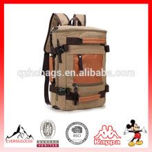 Холст хаки рюкзак для колледжа девочек,мальчиков путешествия Туризм рюкзаки Кемпинг вощеная