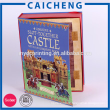 CMYK printed art paper with cardboard paper box for toys puzzles