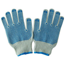 Cheap Knitted PVC Dots Cotton Glove