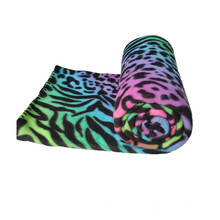 Manta de vellón polar con estampado de guepardo colorido