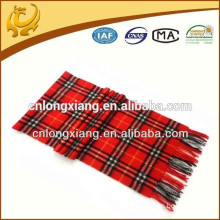 Scottish Woven Scarves Wholesale 100% Cashmere Material Real Cashmere Scarf For Men And Women