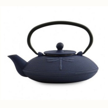 Cast Iron Dragonfly Teapot, Blue