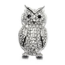 Nouveau design Owl Shape CZ Zircon Pendentif Bijoux Pendentifs Accessoires