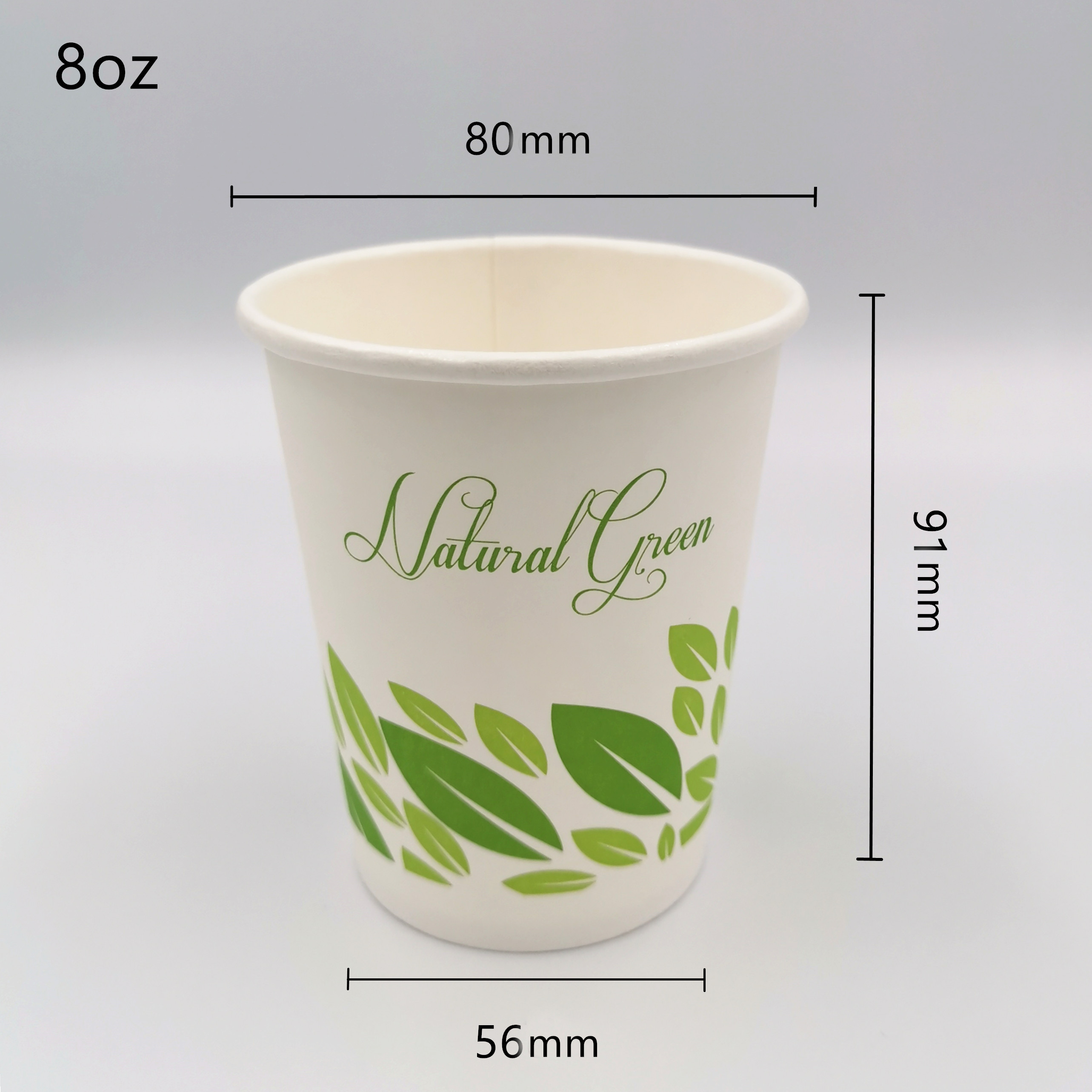 8oz size Compostable Coffee Paper Cup