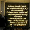 STORE DECORATION SIGNS LED NEON LETTERS
