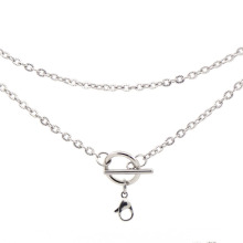 Fast shipping speed silver plated necklace chains,stainless steel necklace