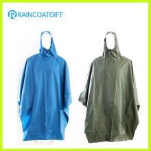 Polyester adulte Poncho à pluie PVC Rpy-052