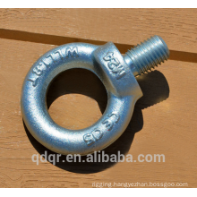Drop forged galvanized eye bolts DIN580 rigging