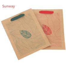 Individuell bedruckte Geschenkpapierbeutel aus Kraftpapier