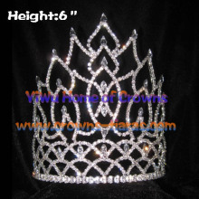 Grossiste Shinny Crystal Queen Pageant couronnes