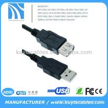 1.5m schwarzes USB-Verlängerungskabel 480Mbits / sec Übertragungsgeschwindigkeit