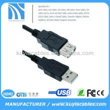 1.5m Câble d'extension USB noir 480Mbits / sec vitesse de transmission