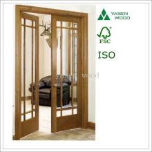 Compuesto Tmber Interal esmaltado puerta de madera francesa