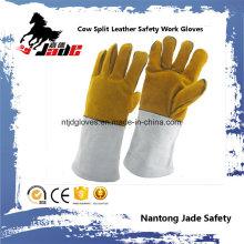 Gant de travail en soudure à sécurité industrielle en cuir cuit au vachette
