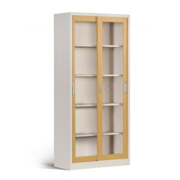 Lockable Glass Door Storage Bookcase Office Cabinets