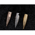 Damascus Figure 316LStainless Steel Statement Bullet Necklace